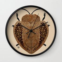 Exotic Wood Tortoise Beetle Wall Clock