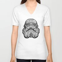 trooper V-neck T-shirts featuring Trooper by Patricio Sebastian Pomies