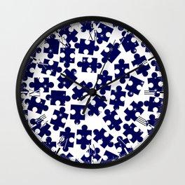 Random Jigsaw Pieces Wall Clock