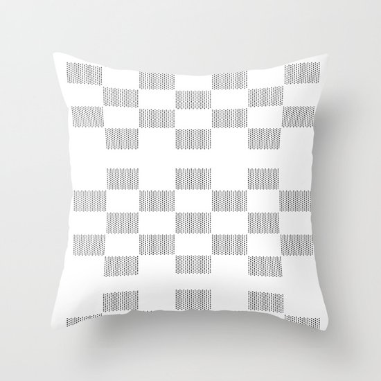 Circle takes the square Throw Pillow