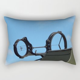 Military cars, equipment, retro items and elements Rectangular Pillow