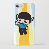 spock iPhone & iPod Cases featuring Spock by Ziqi