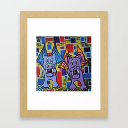 PuppyDragon MondrianCubes Framed Art Print