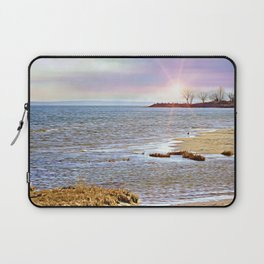 Sunset At The Beach - Tod's Point Laptop Sleeve