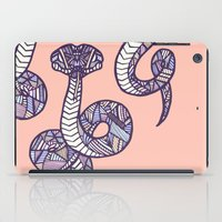 anaconda iPad Cases featuring Pastel Anaconda by schillustration