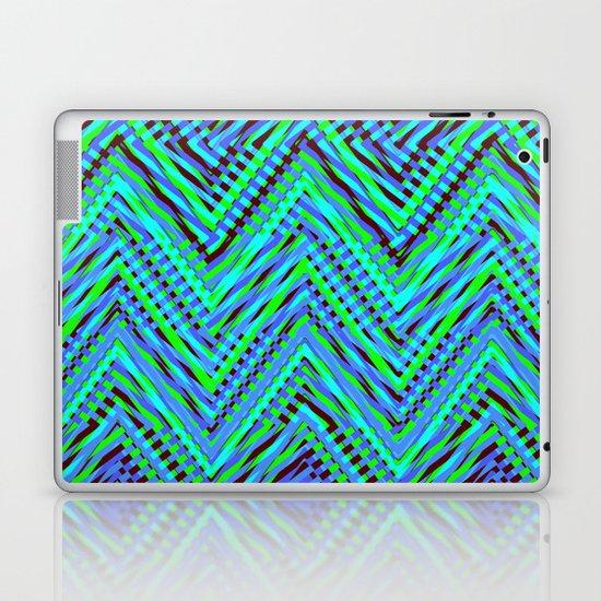 Chevron Blue Laptop & iPad Skin