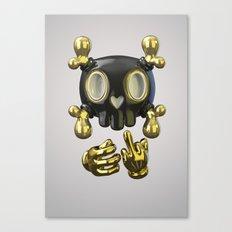 Crossbone SkullToon Canvas Print