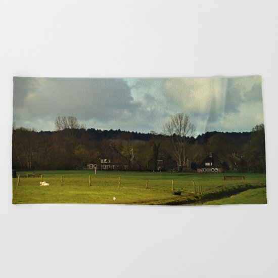 Farm view Beach Towel