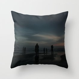 Ghost Beach Throw Pillow