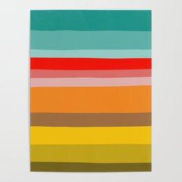 Color Stripes Poster