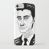 dale cooper iPhone & iPod Cases featuring Cooper by Simone Bellenoit : Art & Illustration