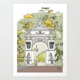 Parque El Calvario -Arco de la Federación- Art Print