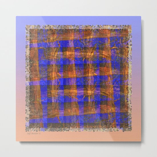 MADRONA TREE PLAID PATTERN Metal Print