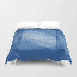 Blue Geometric Abstract Mid Century Modern Duvet Cover