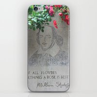 shakespeare iPhone & iPod Skins featuring shakespeare by Danica Nicole