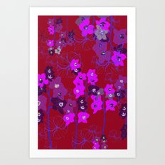 Oriental Orchids Art Print