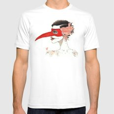 The Masquerade:  The Beak Mens Fitted Tee White MEDIUM