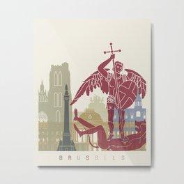 Brussels skyline poster Metal Print