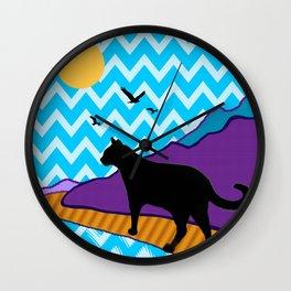 Catscape Wall Clock