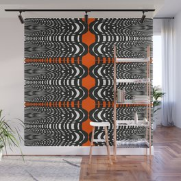Black and Orange Illustion Wall Mural
