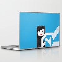 bikini Laptop & iPad Skins featuring Bikini (01) by Marco Recuero