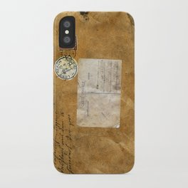 Carte Postale iPhone Case