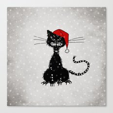 Evil Christmas Cat Canvas Print