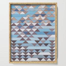 Triangle Pattern No.6 Crisp Blue Serving Tray