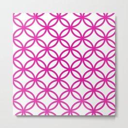 Interlocking Pink Metal Print