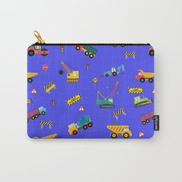 Construction Zone Kids Royal Blue Carry-All Pouch