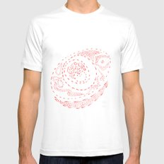 Red Dots MEDIUM White Mens Fitted Tee