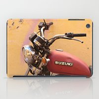motorbike iPad Cases featuring Vintage motorbike  by Theoteom