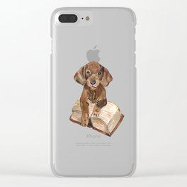 Clever little dog Clear iPhone Case