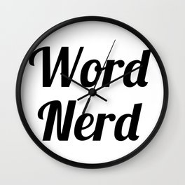 Word Nerd Wall Clock