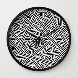 Interlaced Stripes Invert Wall Clock