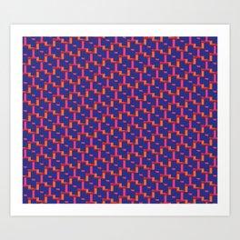 Geometrix / Deep Blue Art Print