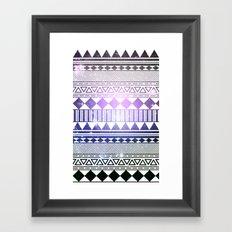 galaxy navajo tribal pattern Framed Art Print