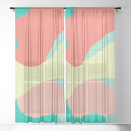 Liquid abstract design. Sheer Curtain