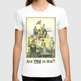 Vintage poster - Are YOU in this? T-shirt