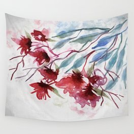 Weeping Red Wall Tapestry