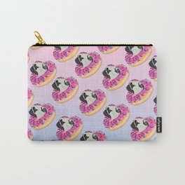 Pug Donut Strawberry Profile Carry-All Pouch