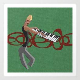 Jazz Trio - Pianist Art Print