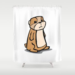 Pensive Gopher Shower Curtain
