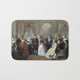 Franklin's Reception At The Court Of France Bath Mat