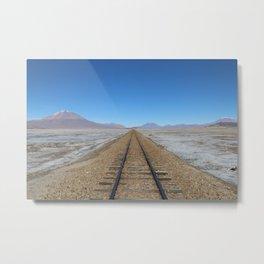 One way track Metal Print