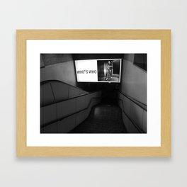 Who's who Framed Art Print
