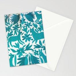Otomi Cyan Stationery Cards