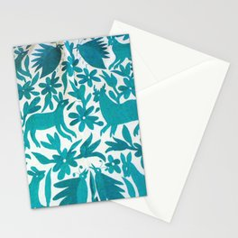 Otomi Cyan Stationery Cards