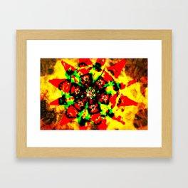 Tribal colors Framed Art Print