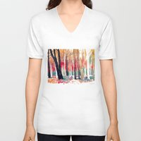 takmaj V-neck T-shirts featuring Woods by takmaj